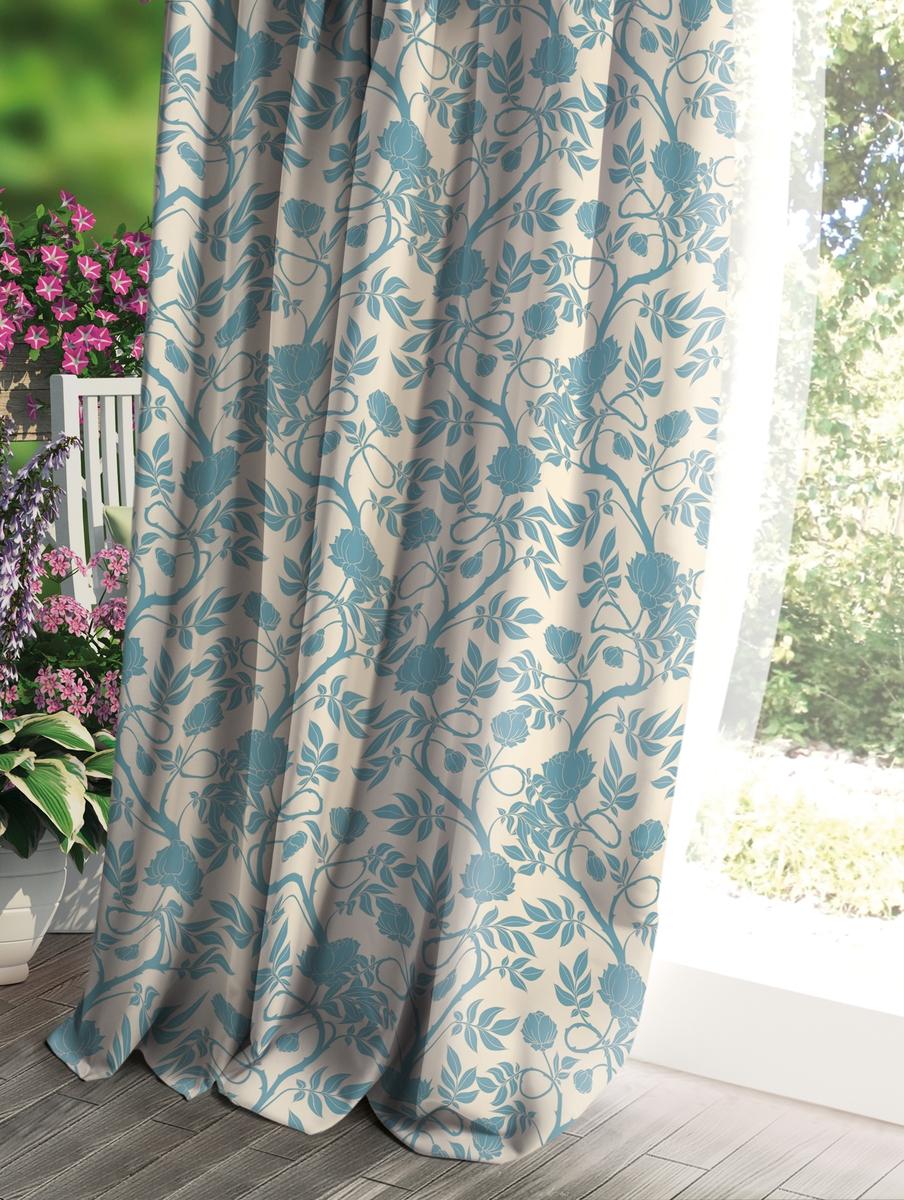 Штора Волшебная ночь Прованс, цвет: светло-серый, 150 x 270 см штора волшебная ночь прованс цвет светло серый 150 x 270 см