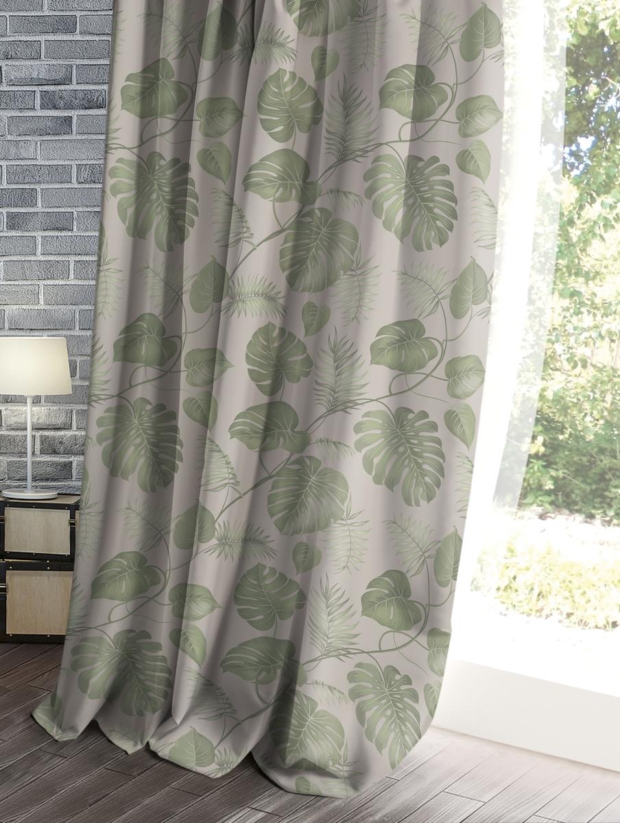 Штора Волшебная ночь Лофт, цвет: темно-бежевый, 150 x 270 см штора волшебная ночь прованс цвет зеленый 150 x 270 см