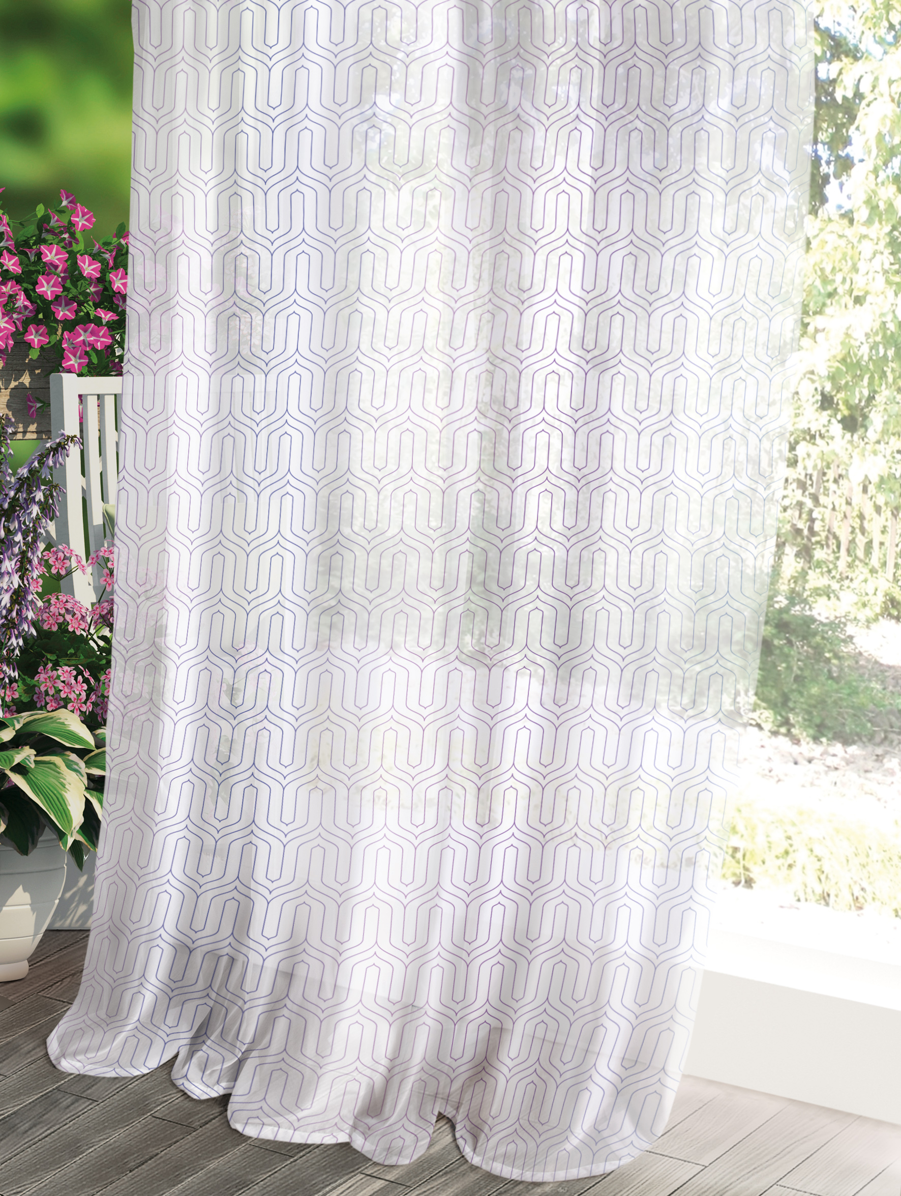 Комплект штор Волшебная ночь Прованс, цвет: белый, 150 x 270 см, 2 шт штора волшебная ночь прованс цвет светло серый 150 x 270 см