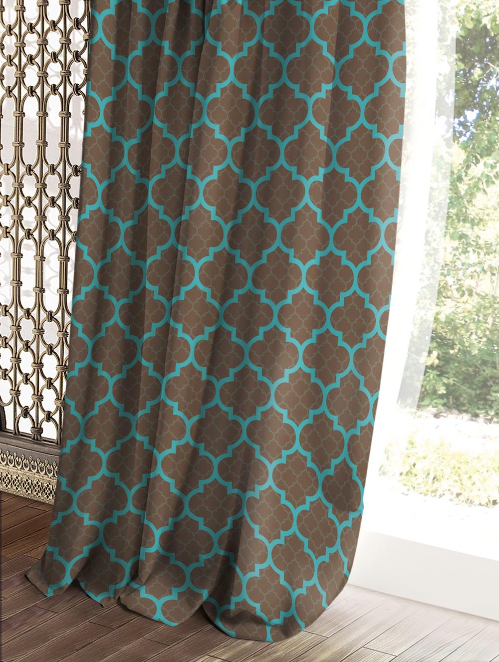 Штора Волшебная ночь Этно, цвет: коричневый, 150 x 270 см штора волшебная ночь прованс цвет зеленый 150 x 270 см