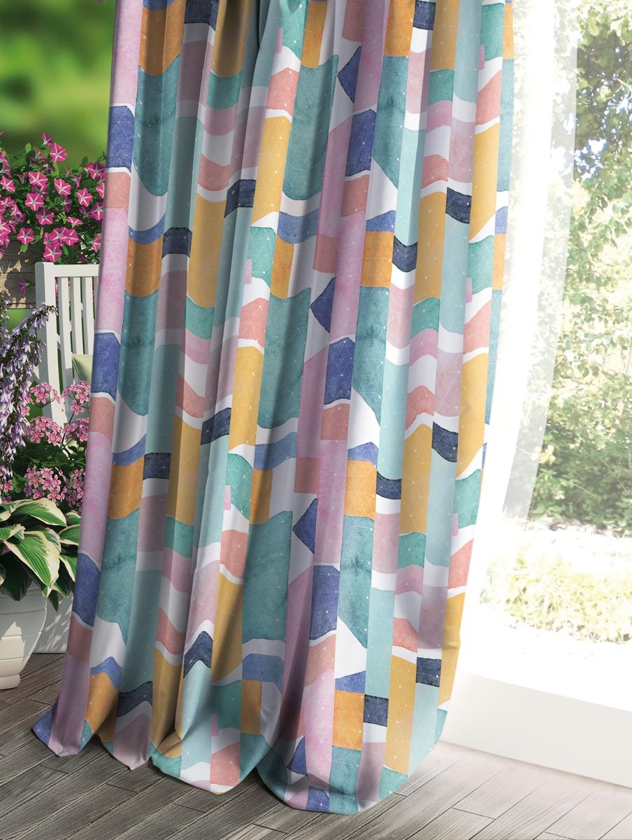 Штора Волшебная ночь Прованс, цвет: разноцветный, 150 x 270 см штора волшебная ночь прованс цвет светло серый 150 x 270 см