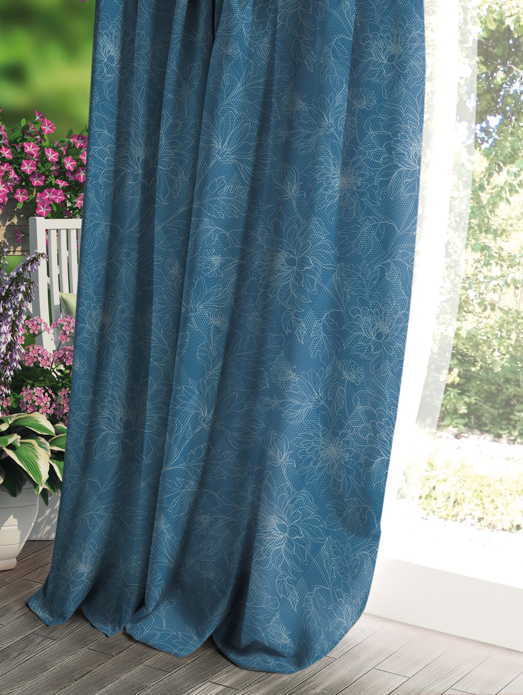 Штора Волшебная ночь Прованс, цвет: синий, 150 x 270 см штора волшебная ночь прованс цвет светло серый 150 x 270 см