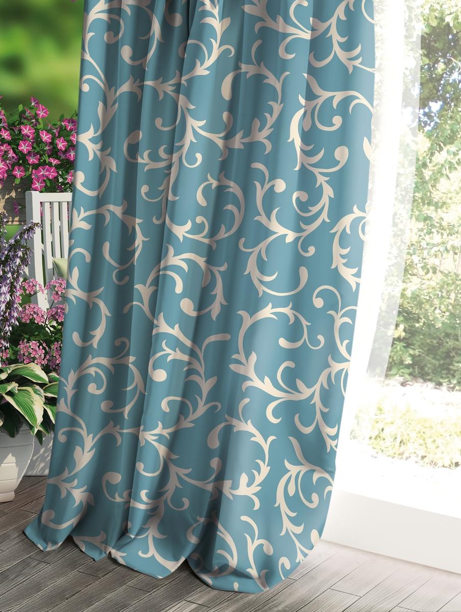 Штора Волшебная ночь Прованс, цвет: голубой, 150 x 270 см штора волшебная ночь прованс цвет зеленый 150 x 270 см
