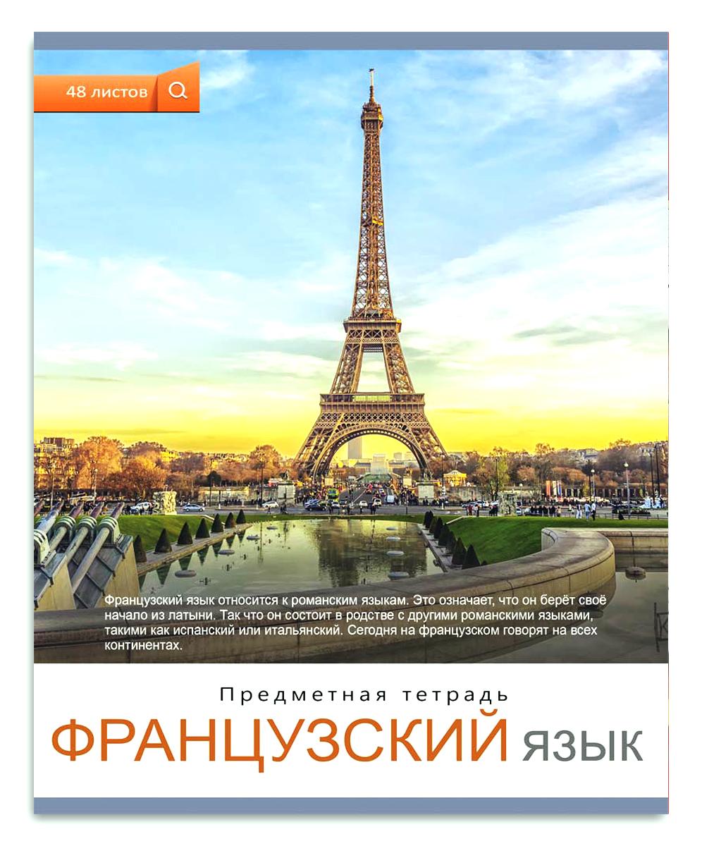 Проф-Пресс Тетрадь Мир вокруг Французский язык 48 листов в клетку