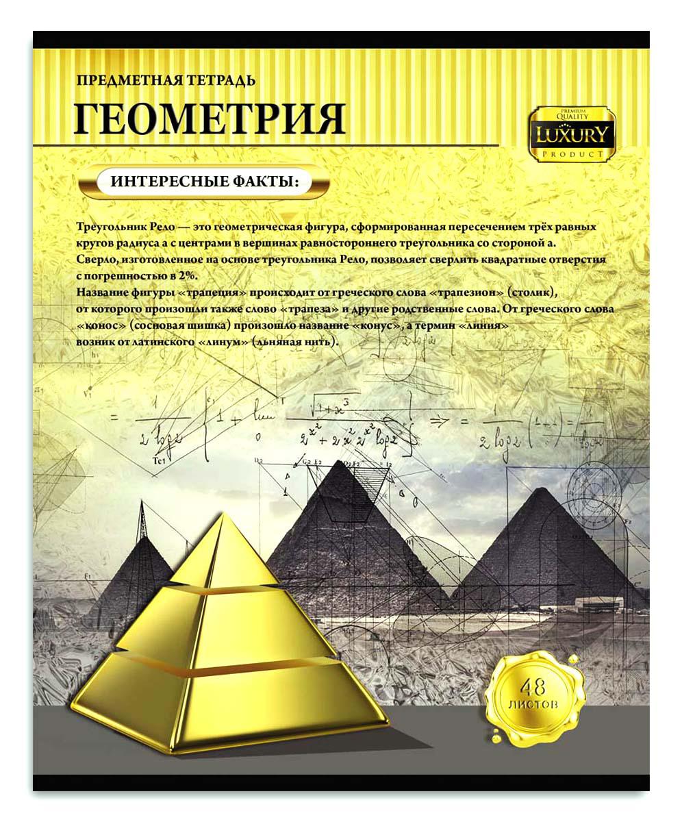 Profit Тетрадь Золотая серия Геометрия 48 листов в клетку тетрадь в клетку геометрия а5