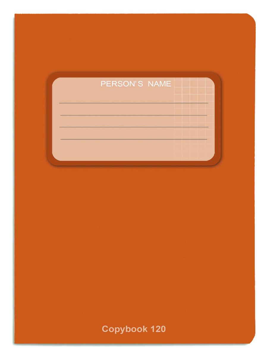 Проф-Пресс Тетрадь 120 листов в клетку оранжевый Проф-Пресс
