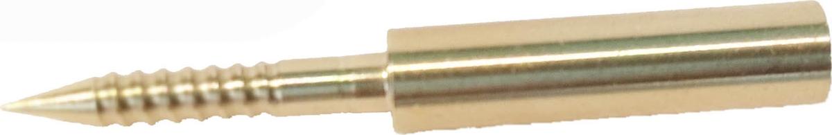 Адаптер-иголка A2S GUN №4, латунь, резьба мама, дюймовая, 5/40 для StilCrin, MegaLine, Nimar пневматика 4,5,