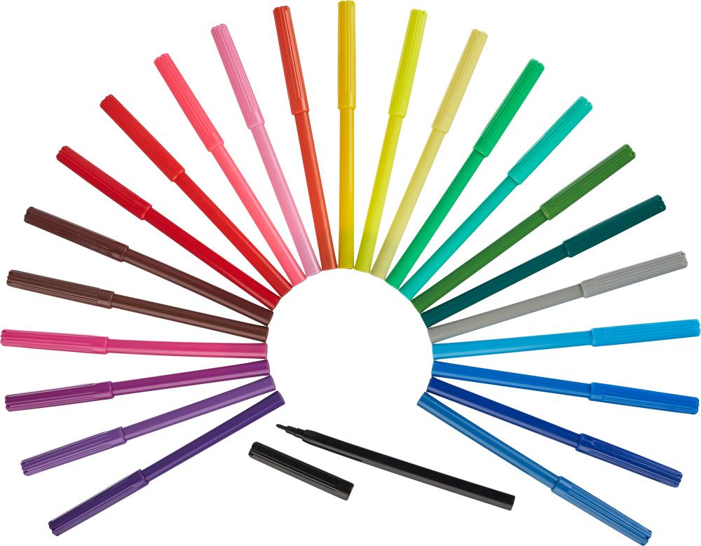 №1 School Набор фломастеров Отличник 24 цвета