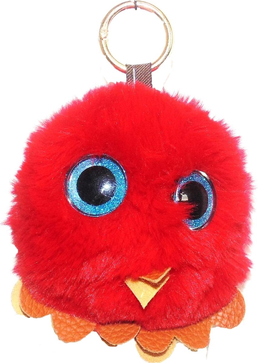 Брелок Vebtoy Пушистый совенок, цвет: красный. БР-712 брелки