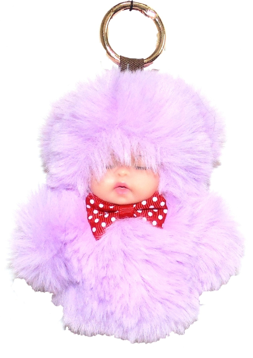 Брелок Vebtoy Пушистый малыш, цвет: фиолетовый. БР-803 брелки