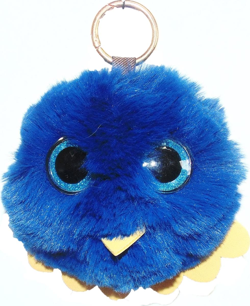 Брелок Vebtoy Пушистый совенок, цвет: синий. БР-711БР-711Милейшие брелки из искусственного меха с колечком и карабином станут прекрасным украшением вашей сумочки, рюкзака или интерьера автомобиля. Отличный подарок вашим близким. Материал - Искусственный мех. Размер 12х10 см.