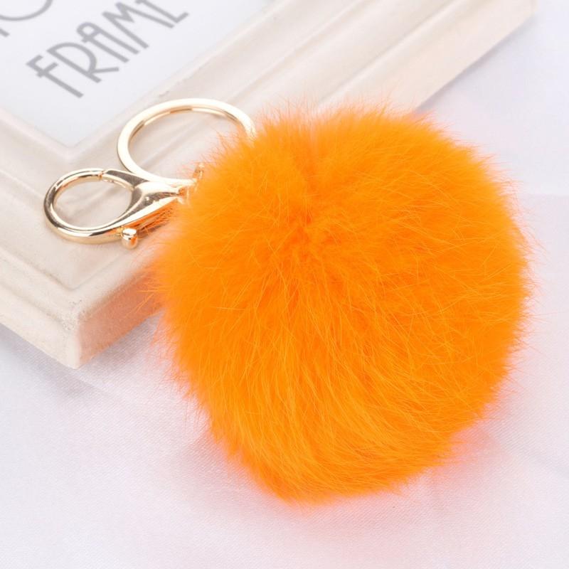 Брелок Vebtoy Пушистый шарик, цвет: оранжевый. БР-012 брелки