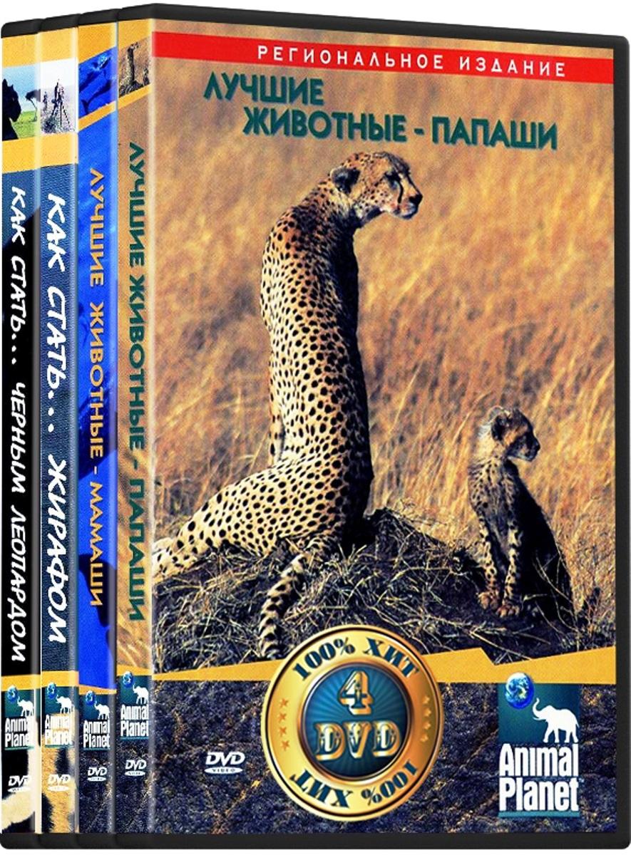 Animal Planet: Ребятам о зверятах: Лучшие животные-мамаши / Лучшие животные-папаши / Как стать... жирафом / Как стать... черным леопардом (4 DVD) недорого