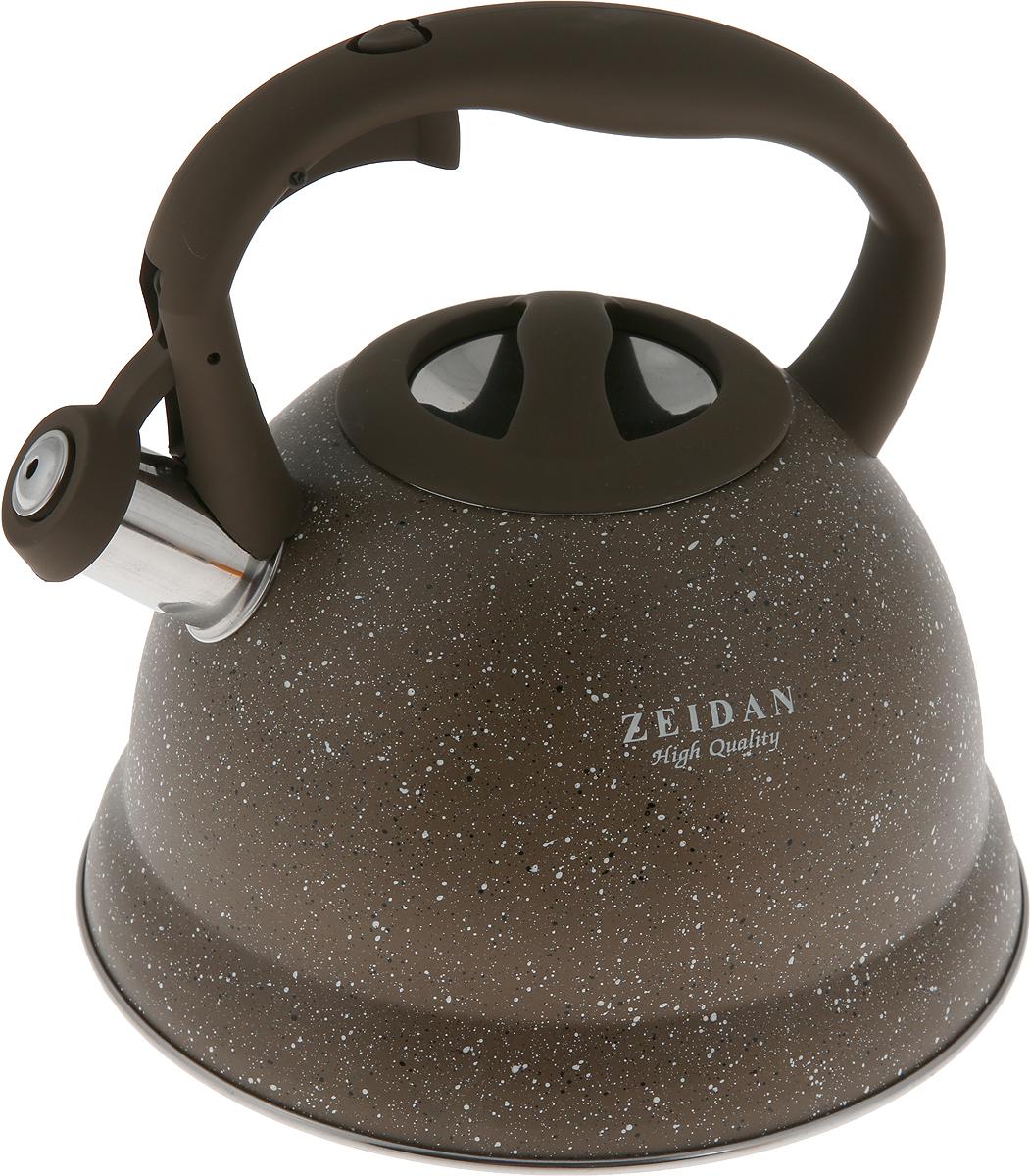 Чайник Zeidan Gravel, со свистком, цвет: коричневый, 3 л чайник со свистком zeidan z 4167