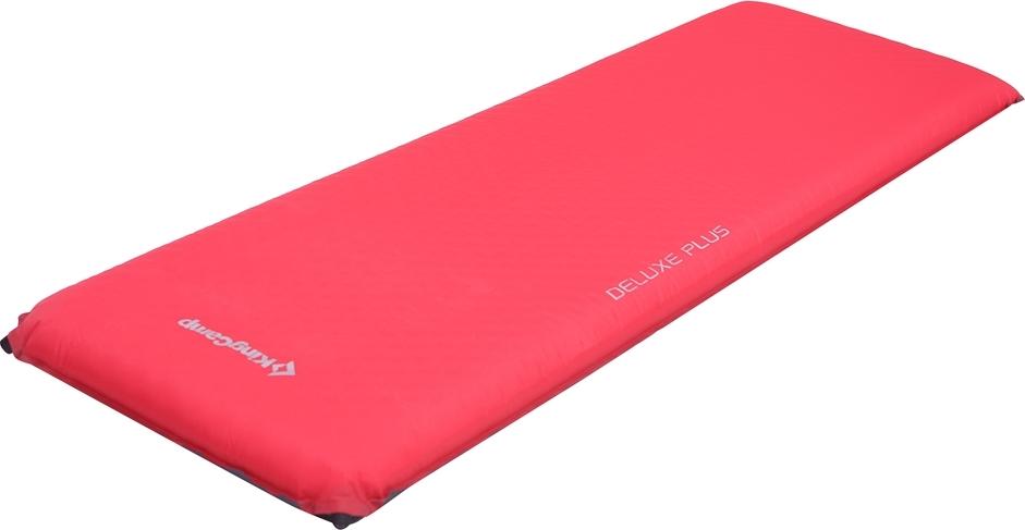 Коврик самонадувающийся KingCamp Delux Plus, цвет: красный, 198 х 63 см коврик самонадувающийся outwell dreamcatcher single 195 х 63 х 5 см