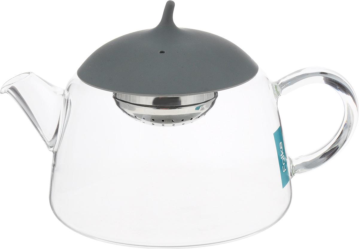 Чайник заварочный Folke, цвет: серый, 0,8 л. TER111/BL постельное белье 2 спальное folke folke mp002xu00zi6