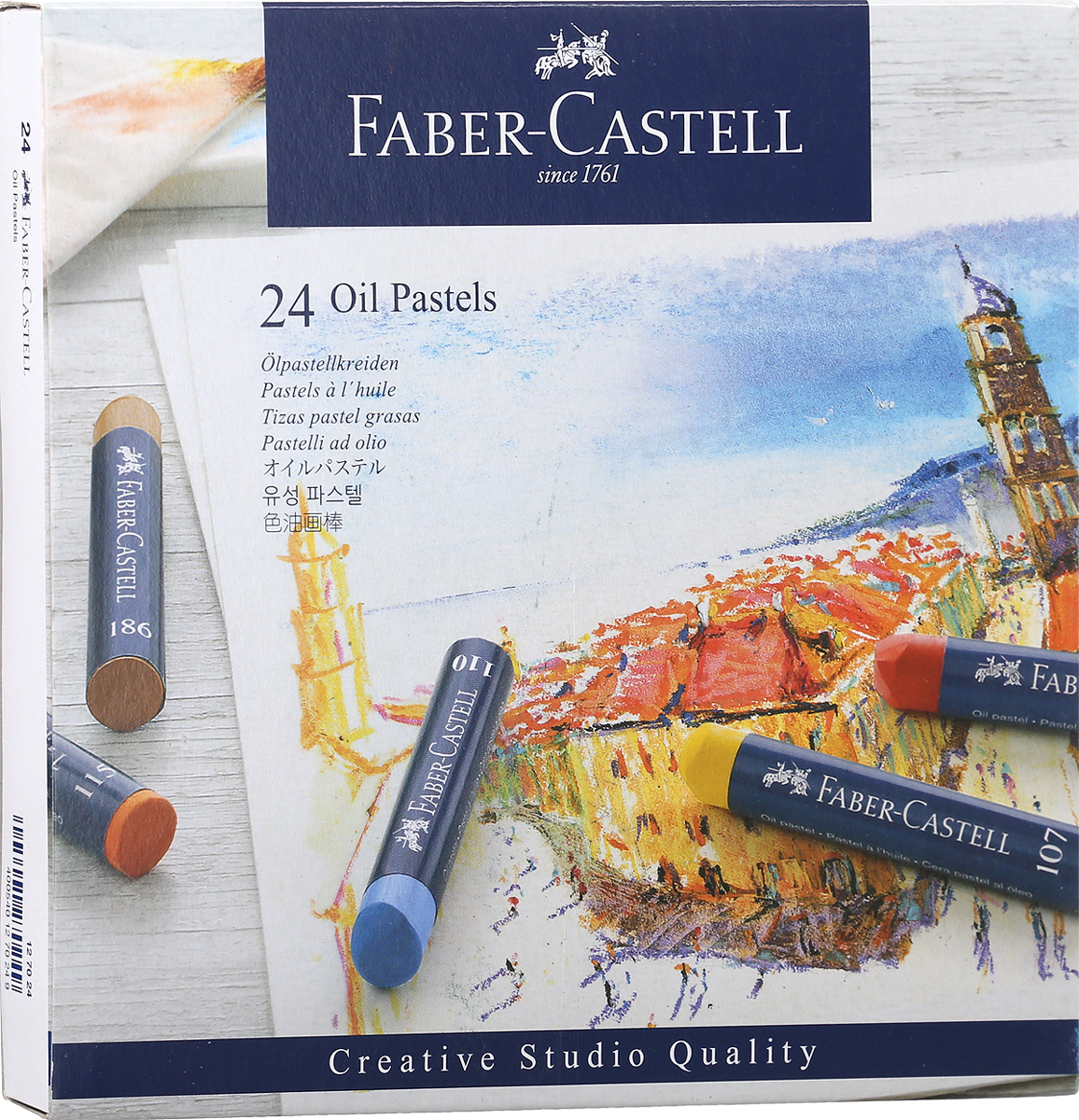Faber-Castell Масляная пастель Studio Quality Oil Pastels 24 шт цена и фото