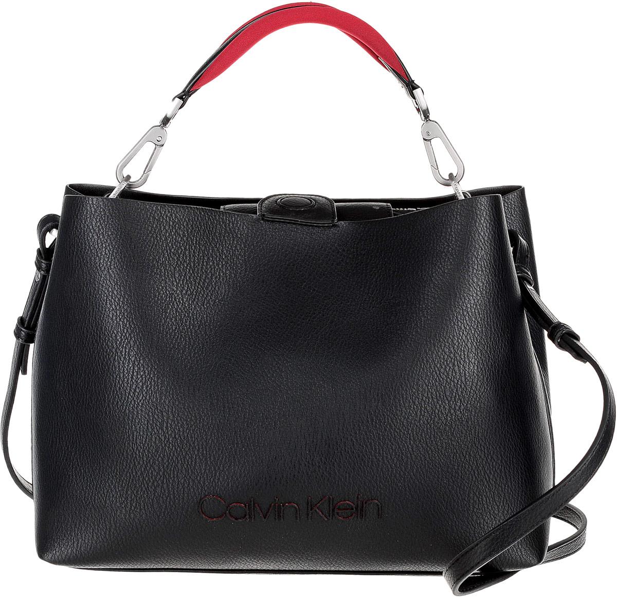 Сумка женская Calvin Klein Jeans, цвет: черный. K60K604341/001 блузка женская calvin klein jeans цвет синий j20j207813 4040 размер s 42 44