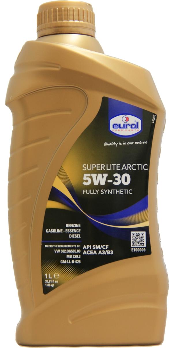 Масло моторное Eurol Super Lite ARCTIC 5W-30 SM/CF -54°C, синтетическое, 1 л