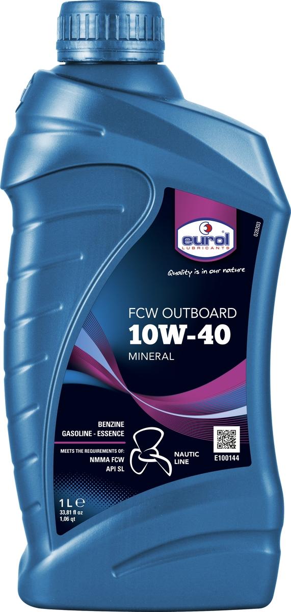 Масло для четырехтактных лодочных моторов Eurol Nautic Line FCW 10W-40 Outboard, 1 л