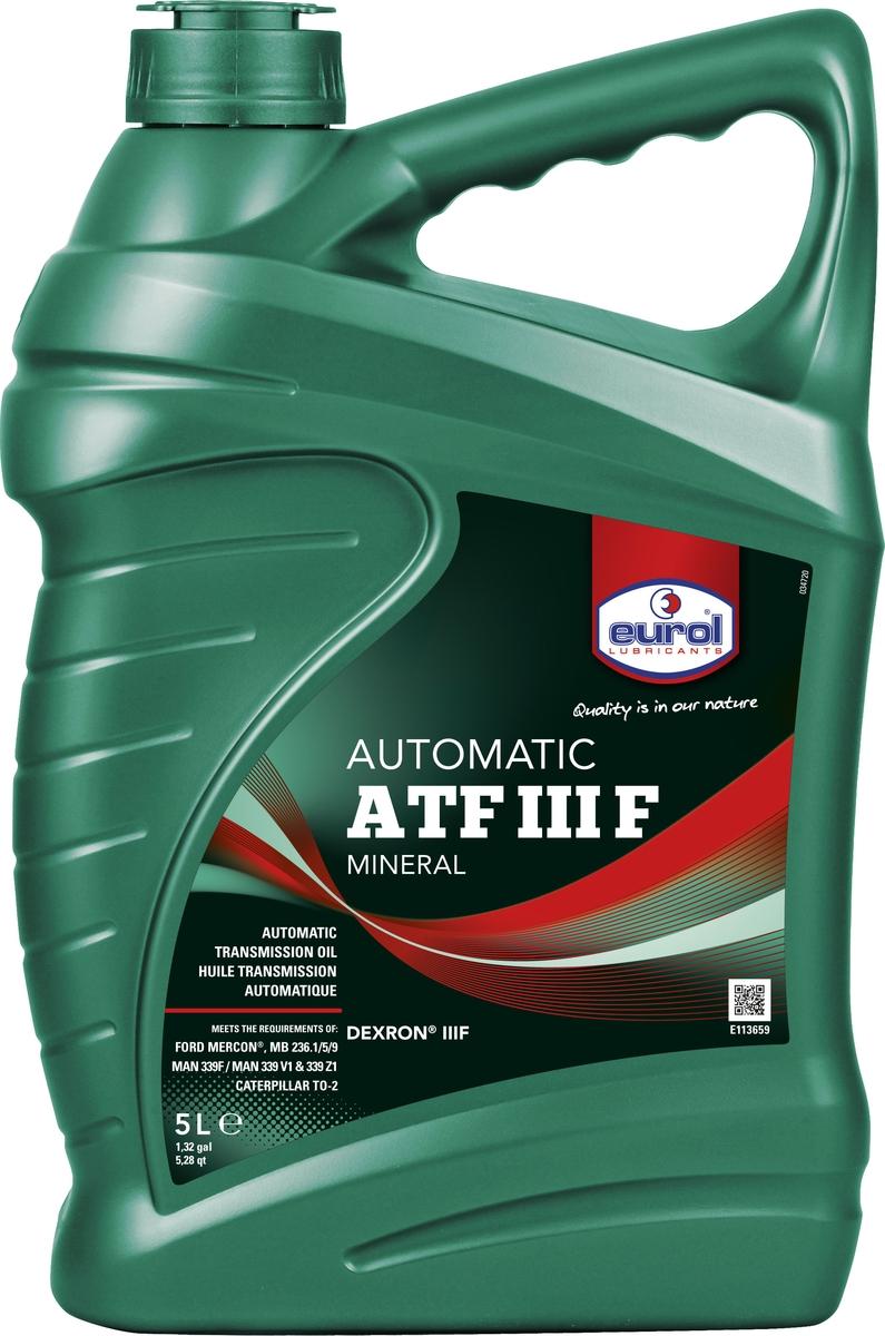Жидкость трансмиссионная Eurol ATF III F, 5 л