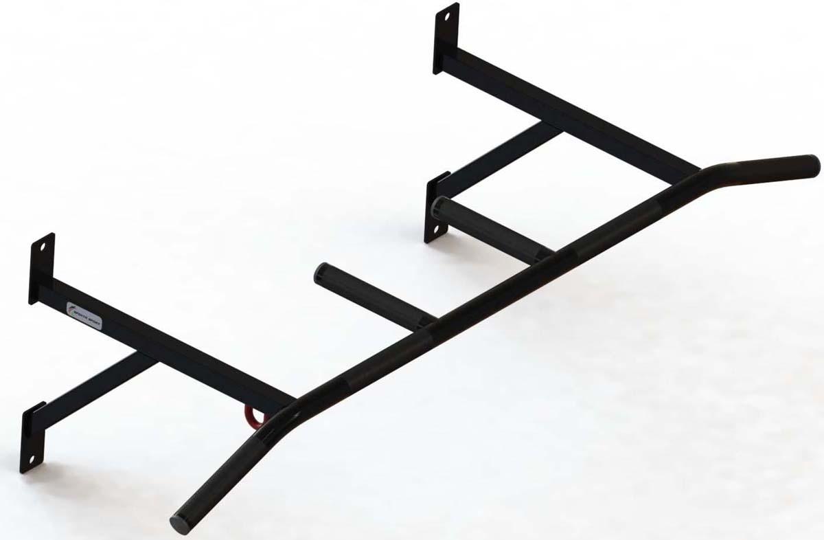 Турник настенный СпектрСпорт Лайт, с крючком для боксерского мешка, цвет: черный подвес для мешка боксерского м416б 4 цепочки