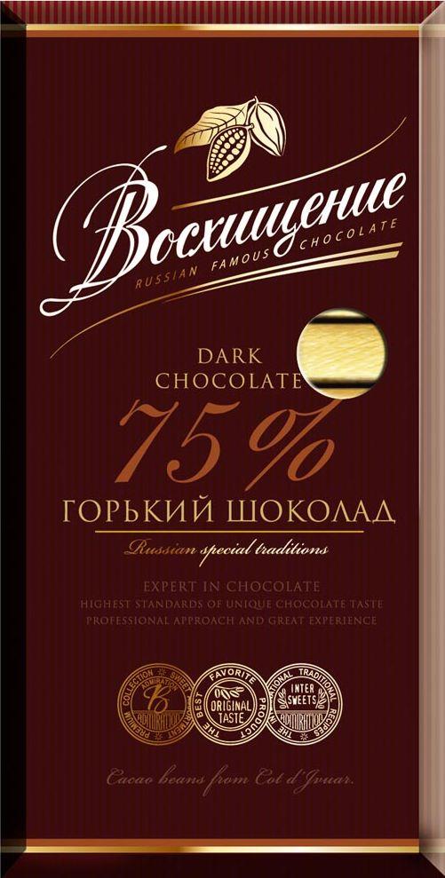 Волшебница Восхищение горький шоколад 75% какао, 100 г