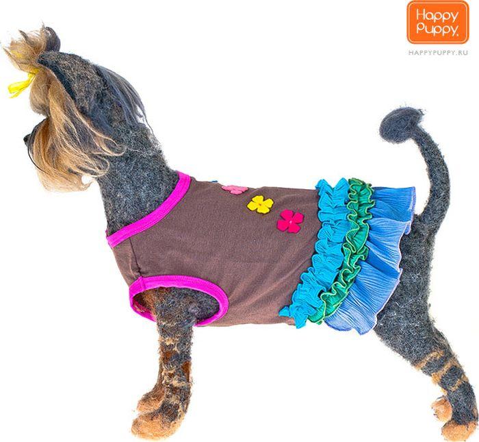 """Платье для собак Happy Puppy """"Софи"""", для девочки. Размер 4 (XL)"""