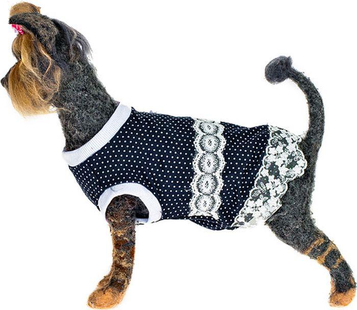 """Платье для собак Happy Puppy """"Шатель"""", для девочки, цвет: синий. Размер 2 (M)"""