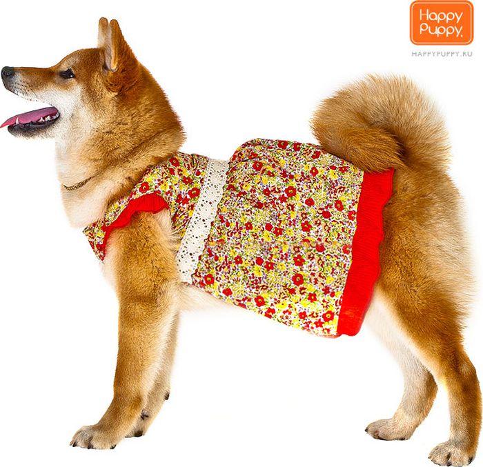 "Платье для собак Happy Puppy ""Кармен"", унисекс. Размер 2 (M)"