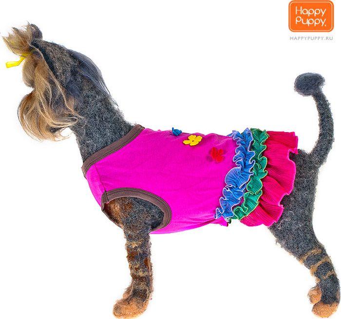 """Платье для собак Happy Puppy """"Лола"""", для девочки. Размер 4 (XL)"""