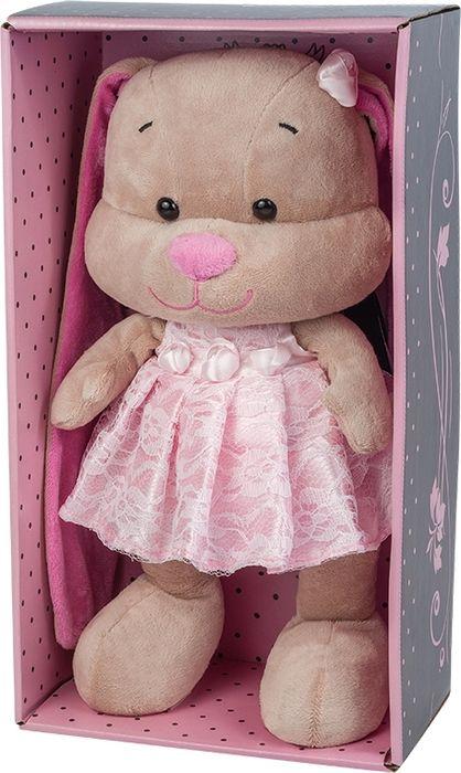 Jack & Lin Мягкая игрушка Зайка в розовом платье 25 см игрушка мягкая jack lin зайка jl 003 25