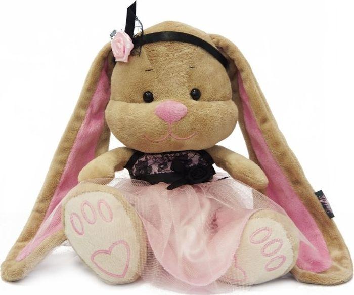 Jack & Lin Мягкая игрушка Зайка в розово-черном платье 25 см игрушка мягкая jack lin зайка jl 003 25
