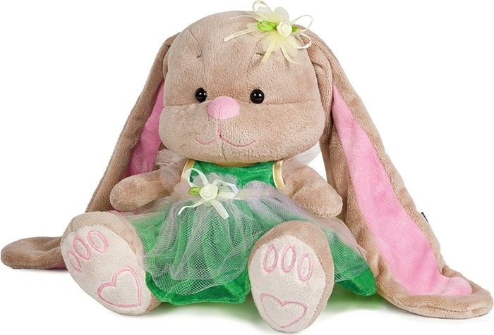 Jack & Lin Мягкая игрушка Зайка в зеленом платье 25 см джемпер lavlan lavlan mp002xw1aqnl