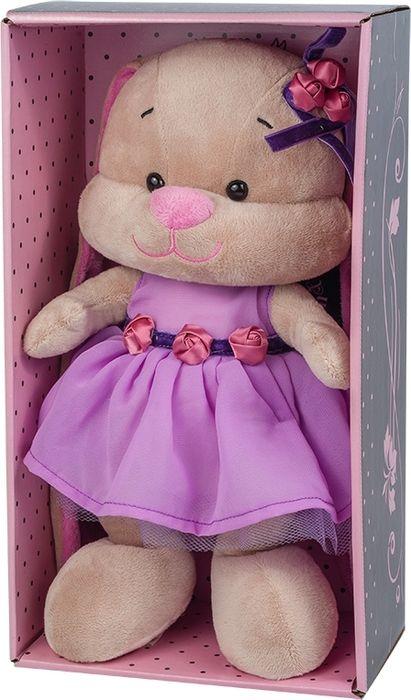 Jack & Lin Мягкая игрушка Зайка в фиолетовом платье 25 см игрушка мягкая jack lin зайка jl 003 25