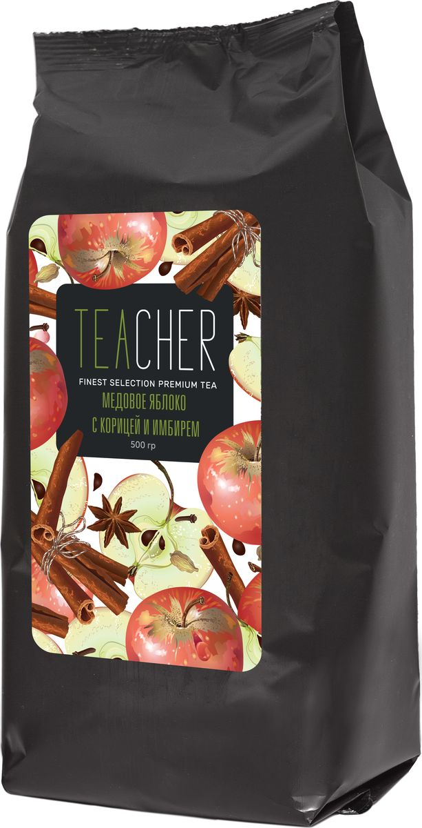 Teacher Медовое яблоко с имбирем чай листовой, 500 г teacher оранжевое настроение чай листовой 500 г
