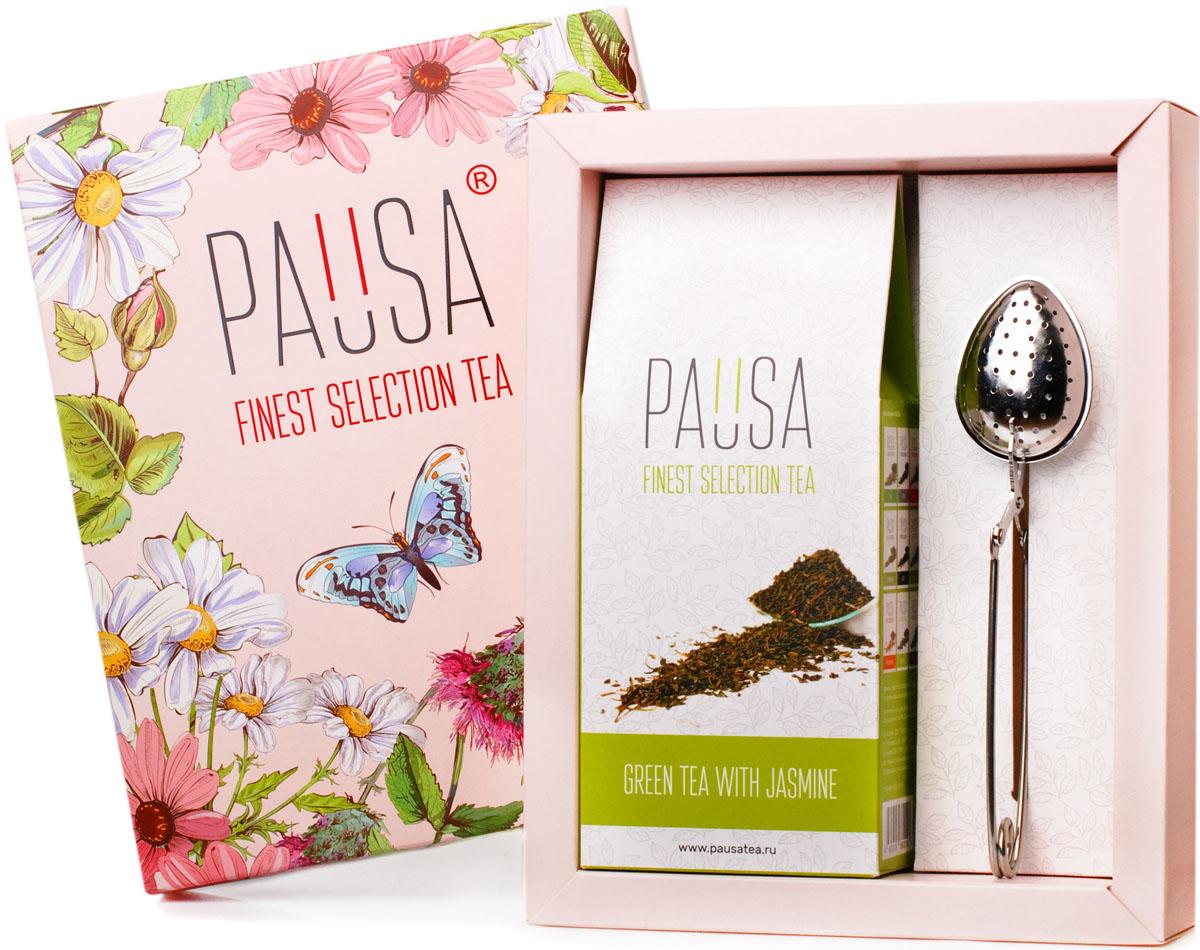 Pausa Flowers зеленый чай с жасмином подарочный набор, 90 г набор для чая подарочный с вашим текстом время пить чай