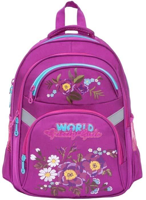 Grizzly Рюкзак школьный цвет лиловый RG-865-2/2 рюкзак grizzly rg 867 2 2 fuchsia