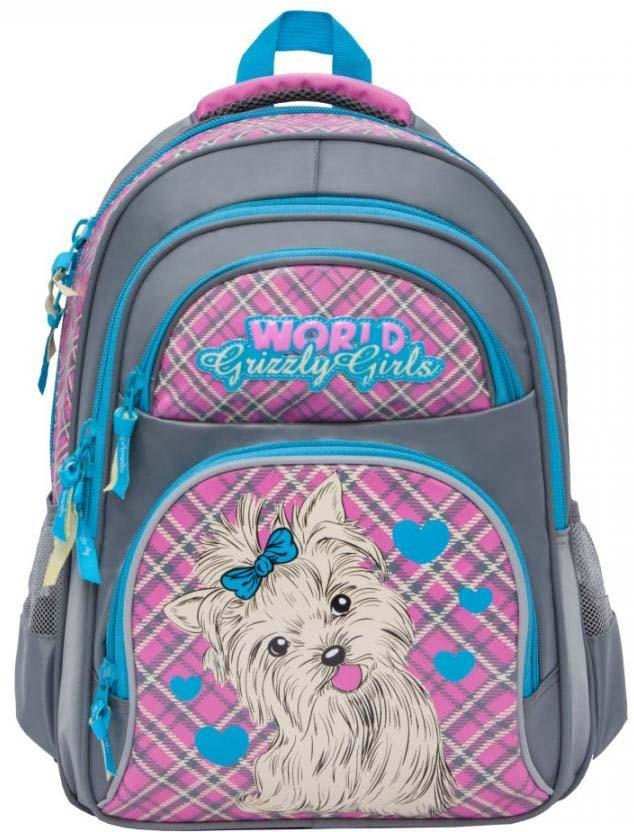 Grizzly Рюкзак школьный цвет серый RG-865-3/4 рюкзак grizzly rg 867 2 4 grey