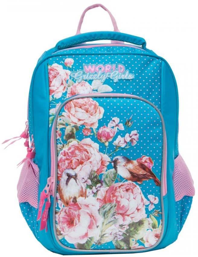 Grizzly Рюкзак школьный цвет голубой RG-866-2/1 рюкзак grizzly rg 867 2 2 fuchsia