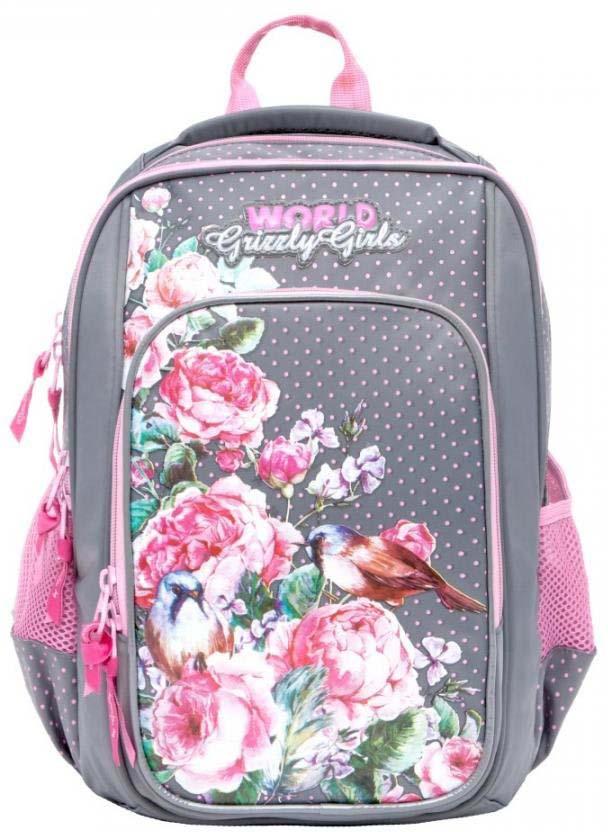 Grizzly Рюкзак школьный цвет серый RG-866-2/2 рюкзак grizzly rg 867 2 2 fuchsia