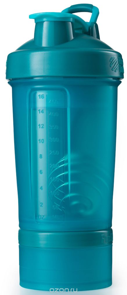 Шейкер спортивный BlenderBottle ProStak Full Color, с контейнером, цвет: бирюзовый, 650 млBB-PRSK-FTEABlenderBottle ProStak - это шейкер с уникальной на сегодняшний день системой хранения, адаптируемой к любимым вашим потребностям. - шейкер + гибкая система контейнеров Twist'nLock (100 мл, 150 мл, 250 мл*, контейнер для таблеток - в любых количествах и комбинациях**) - независимая система контейнеров - запатентованная петля для удобства транспортировки - лучшая технология смешивания благодаря шарику-венчику BlenderBall - 10 стильных расцветок. Качественные материалы не содержат бисфенол (BPA) и фталаты, благодаря чему шейкер абсолютно безопасен для здоровья. Шейкер герметично закрывается и не допускает протекания при переноске в сумке. Шарик-венчик BlenderBall с легкостью смешивает даже самые плотные ингредиенты, а широкое горлышко делает питье комфортным. Гибкая система контейнеров позволяет использовать любые комбинации для получения необходимого объема, а возможность использовать контейнеры Expansion Pak как вместе, так и отдельно от шейкера позволит взять с собой все, что нужно даже при ограниченном объеме вашей сумки. Уникальная система Все-в-Одном! * Экстра-большой контейнер 250 мл докупается отдельно в составе набора контейнеров ProStak Expansion Pak ** Благодаря системе Twist'n Lock вы можете собрать нужную вам комбинацию контейнеров. Любые размеры и любое количество контейнеров. Соберите свой уникальный шейкер! Как повысить эффективность тренировок с помощью спортивного питания? Статья OZON Гид