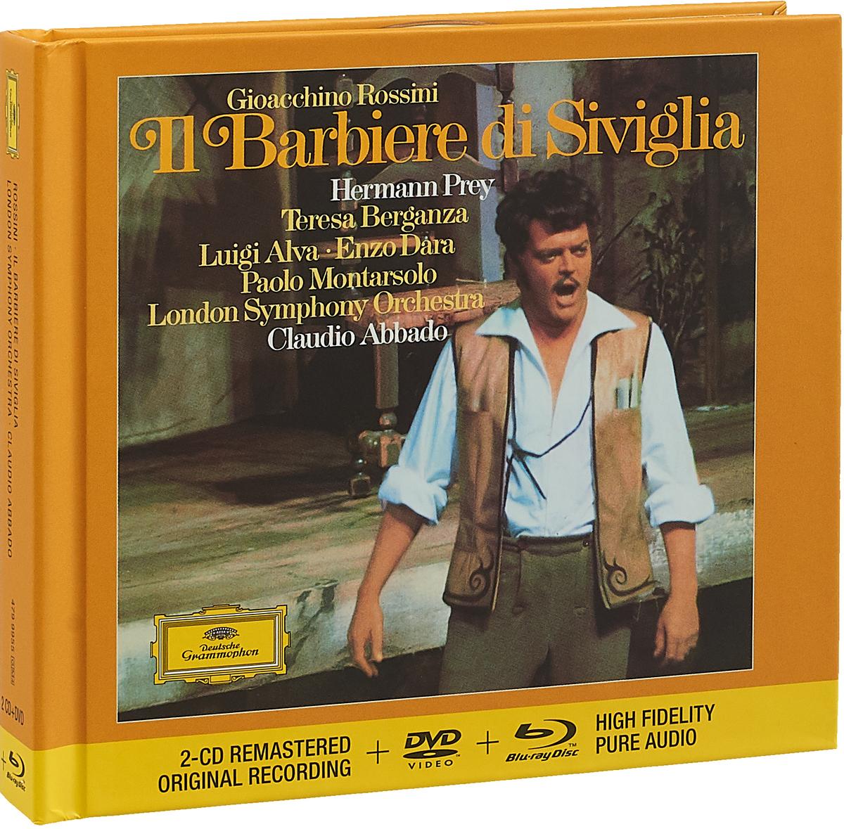 Клаудио Аббадо Abbado, Claudio Rossini. Il Barbiere Di Siviglia (2 CD, DVD, Blu-ray) gioacchino rossini il barbiere di siviglia dramma buffo per musica da rappresentarsi nel teatro del parco new york