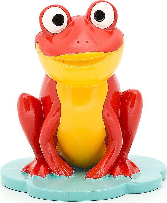 """Подставка для очков """"Лягушка"""", цвет: красный, желтый, 9 х 8,8 х 9,8 см"""