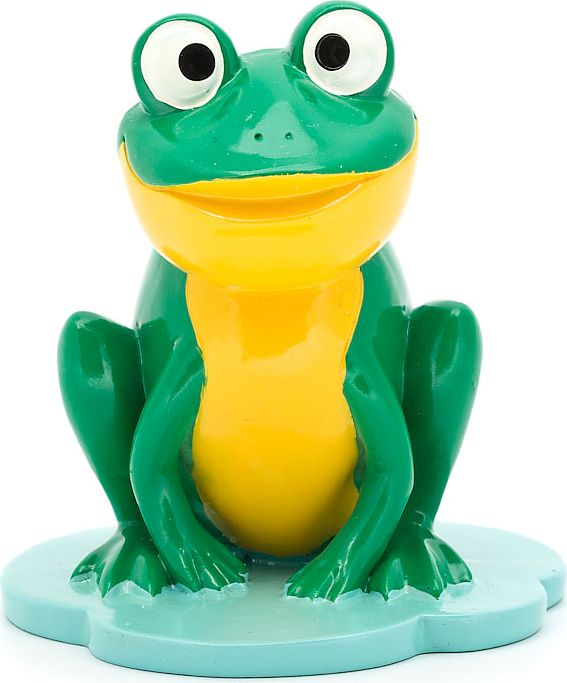"Подставка для очков ""Лягушка"", цвет: желтый, зеленый, 9 х 8,8 х 9,8 см"