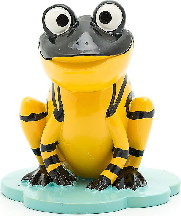 "Подставка для очков ""Лягушка"", цвет: темно-зеленый, желтый, 9 х 8,8 х 9,8 см"