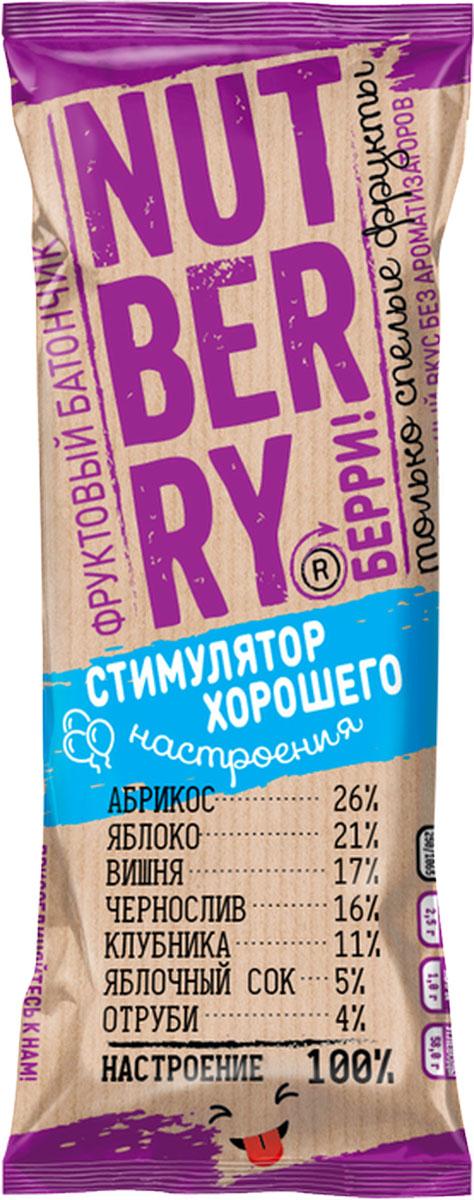 NutberryФруктовый батончикабрикос яблоко,30г батончик фруктовый витафрут с гранатом 30 г
