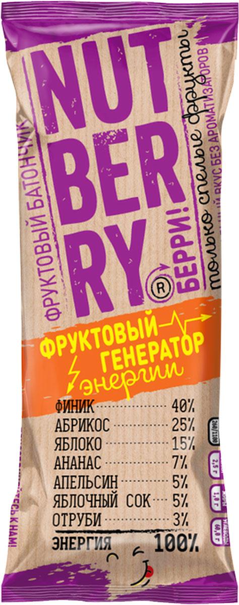 NutberryФруктовый батончикфиник абрикос,30г батончик фруктовый витафрут с гранатом 30 г