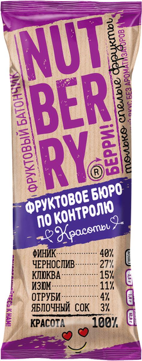 NutberryФруктовый батончикфиник клюква,30г батончик фруктовый витафрут с гранатом 30 г