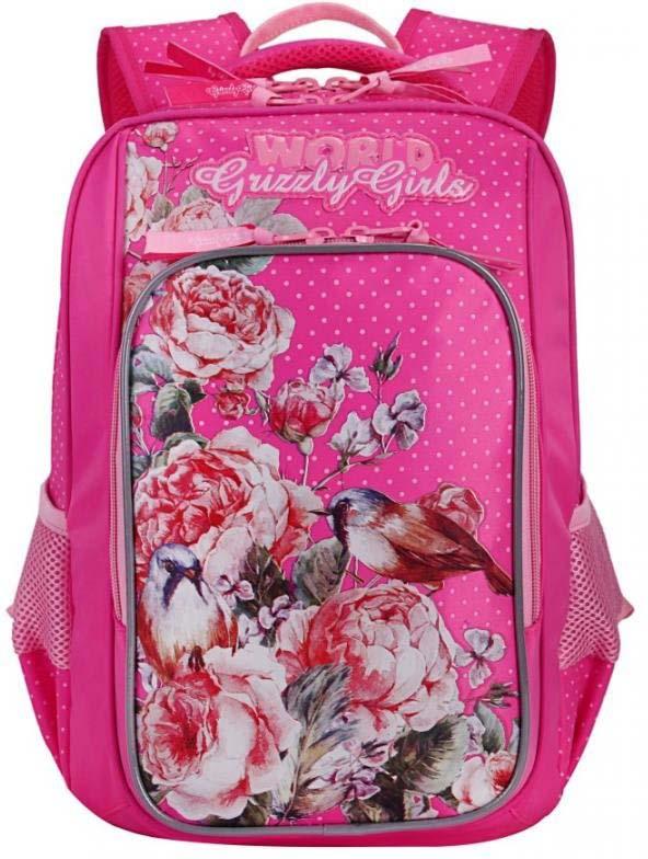 Grizzly Рюкзак школьный цвет фуксия RG-866-2/3 рюкзак grizzly rg 867 2 2 fuchsia